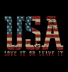 usa love it or love it - american vector image