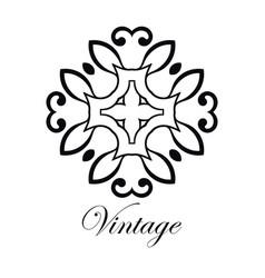 Vintage logo template vector