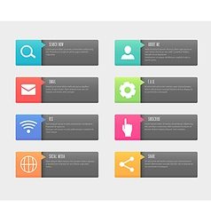 Web buttons icon set vector image