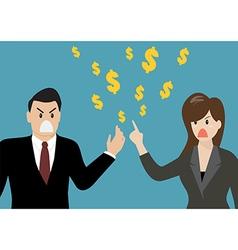 Business people having a quarrel about money vector image