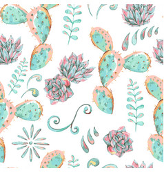 Exotic natural vintage seamless pattern vector