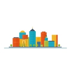 icons set of urban landscape vector image vector image