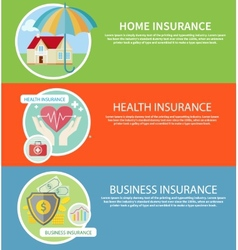 Insurance icons set vector image