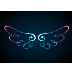 shining wing vector image vector image
