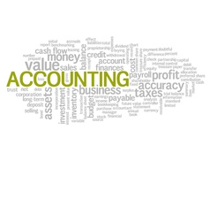 Accounting Word Cloud Green Bubble Tags Tree vector image vector image