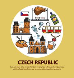 czech republic authentic culture promotional vector image vector image