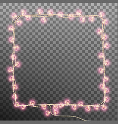 darlings hearts garland lights eps 10 vector image