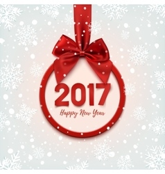 Happy New Year 2017 round banner vector image