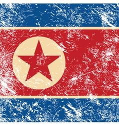 North Korea retro flag vector image