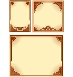 Set of retro frames vector image vector image