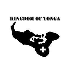 Symbol of kingdom of tonga and map vector