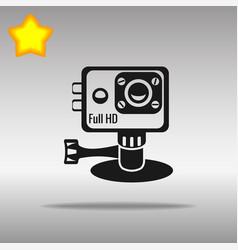action camera black icon button logo symbol vector image