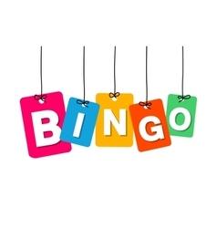 colorful hanging cardboard Tags - bingo vector image