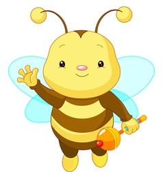 friendly cute baby bee vector image