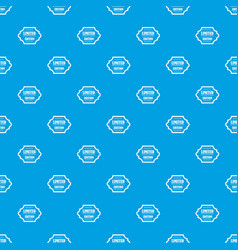 limited edition pattern seamless blue vector image vector image