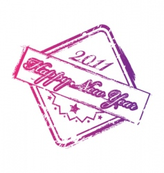 new year stamp vector image vector image