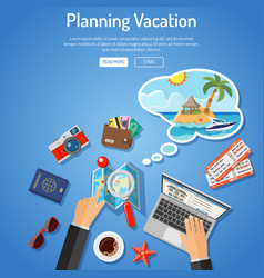 planning vacation concept vector image