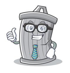 businessman trash character cartoon style vector image vector image