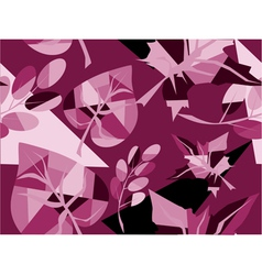 purple leaf pattern vector image vector image