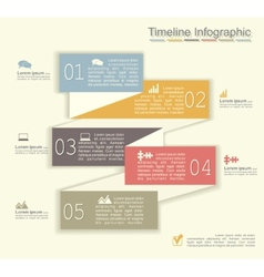 Retro infographics with elements and icons vector image vector image