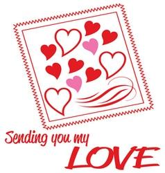 Sending My Love vector image vector image