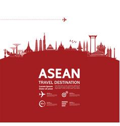 Asean travel destination vector