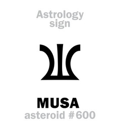 Astrology asteroid musa vector