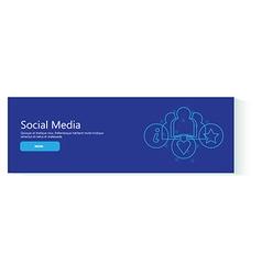banner social media vector image