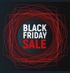 black friday sale abstract poster red promo vector image