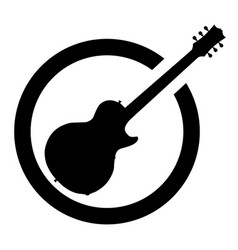 black ink stamp guitar vector image
