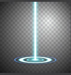 Blue ray night scene disco club light effect vector