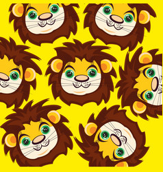 Cartoon of the mug lion vector