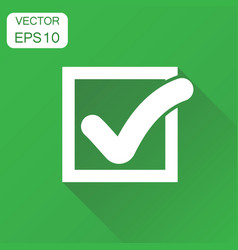 check mark icon business concept tick yes ok vector image