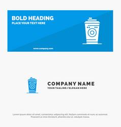 Coffee mug starbucks black coffee solid icon vector