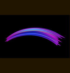 colorful brushstroke on black background vector image