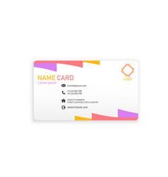 colorful modern business name card image vector image