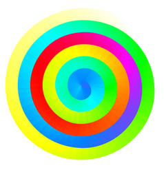 Colorful rainbow spiral vector