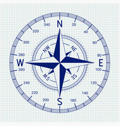 compass blueprint vector image