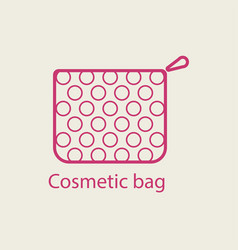 Cosmetic bag thin line icon vector