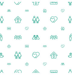 couple icons pattern seamless white background vector image