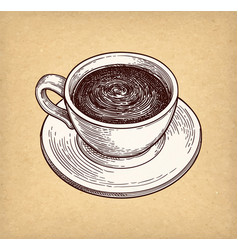 cup of hot chocolate or coffee vector image