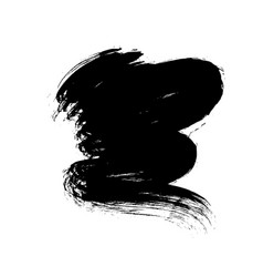 curved brush stroke shape on white vector image