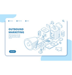 Customer outbound marketing digital media online vector