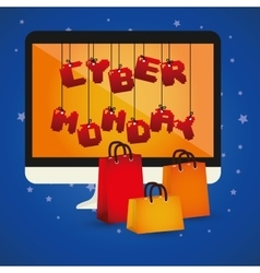cyber monday sale event vector image
