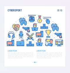 Cybersport concept in half circle vector
