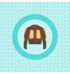 Defence jacket for snowboarding flat icon vector