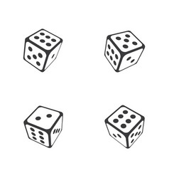 dice icon design template vector image