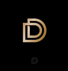 double d logo linear simple monogram vector image