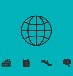 Earth icon flat vector