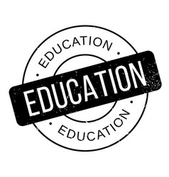 Education rubber stamp vector